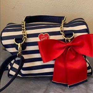 Nautical look Betsey Johnson bag NWOT